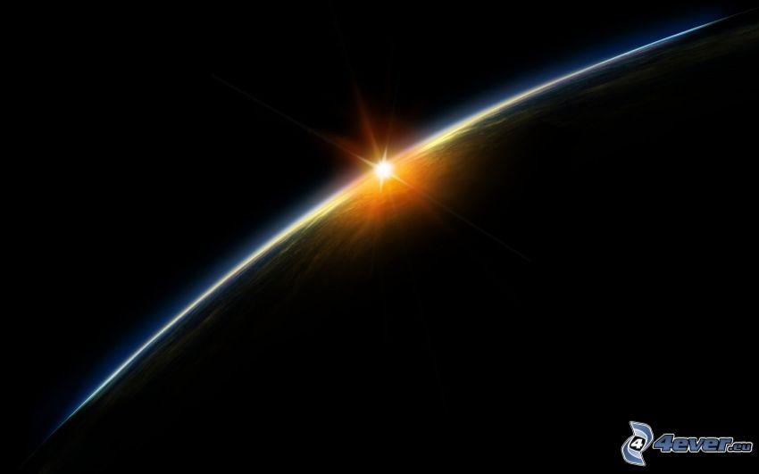 puesta del sol, Tierra