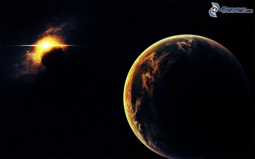 Tierra, planetas, estrella
