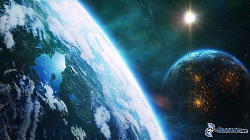 Tierra, planetas, sol