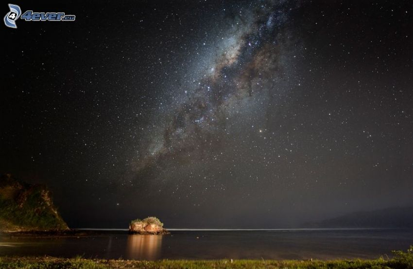 Vía Láctea, cielo estrellado, Océano Índico