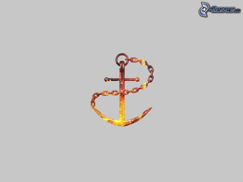 ancla, cadena