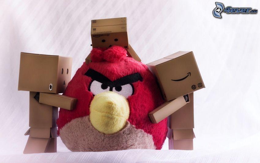 Angry birds, robots de papel, abrazar