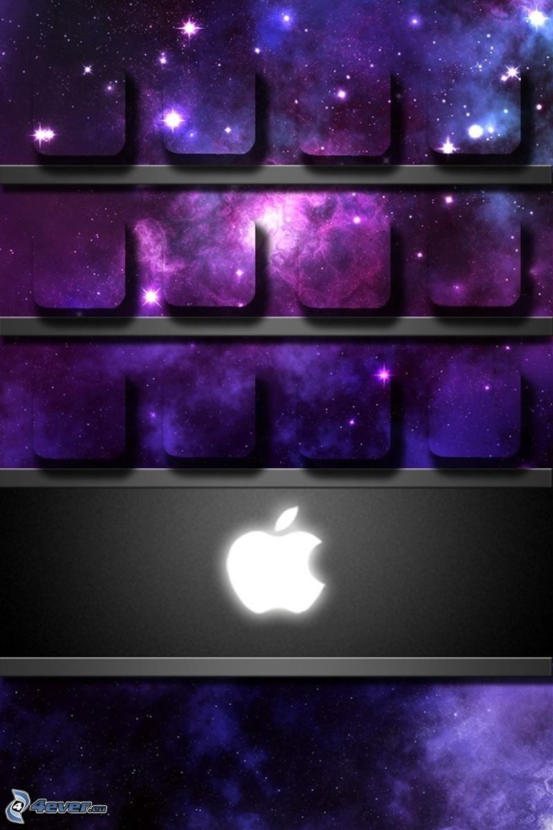 Apple, estantes, universo, cuadrados