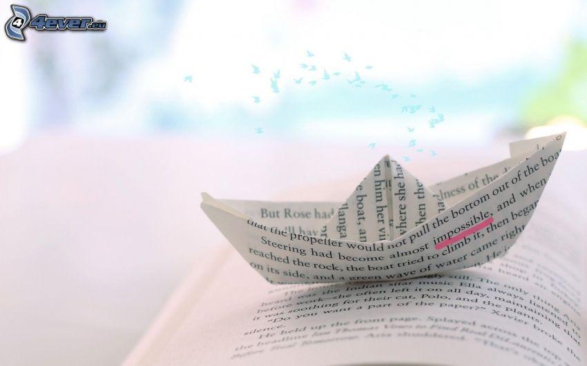 barco de papel, libro