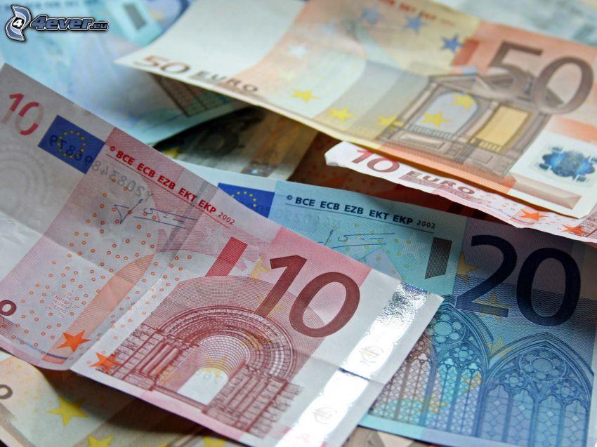 billetes, euro
