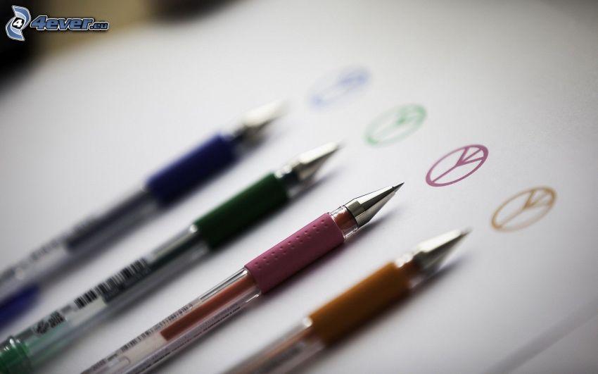 bolígrafos, paz