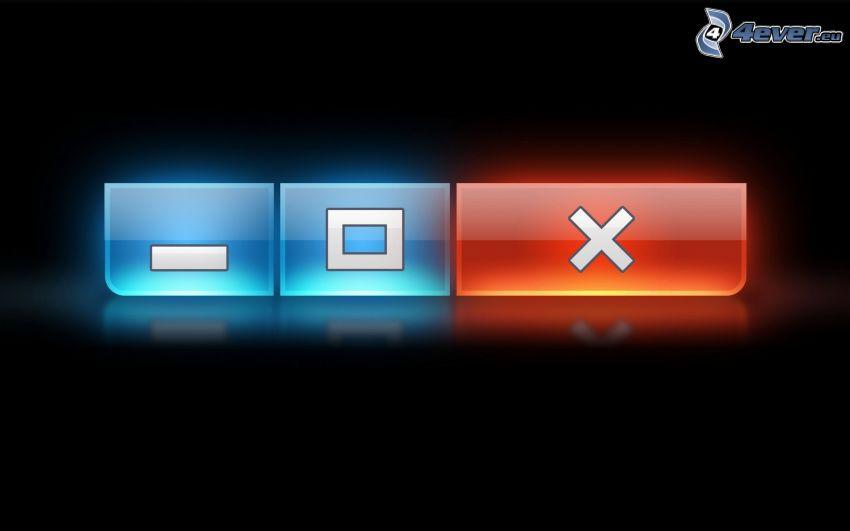 botones, Windows