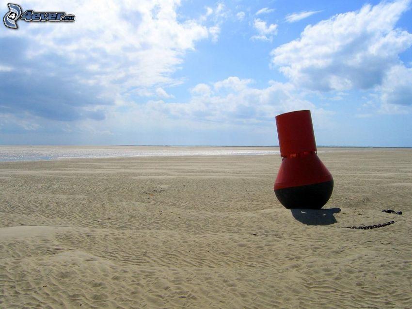 boya, playa, cielo