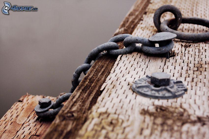 cadena, madera