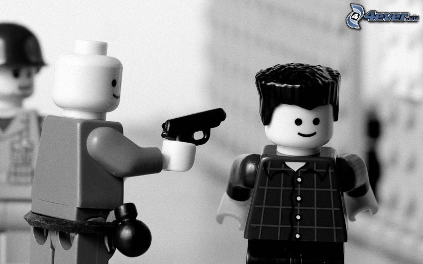caracteres, asesino, Lego