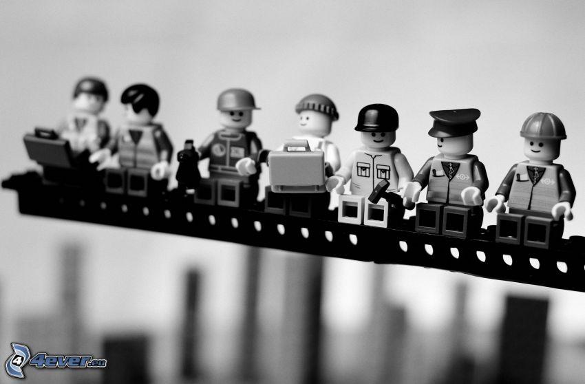 caracteres, Lego, estructura, parodia