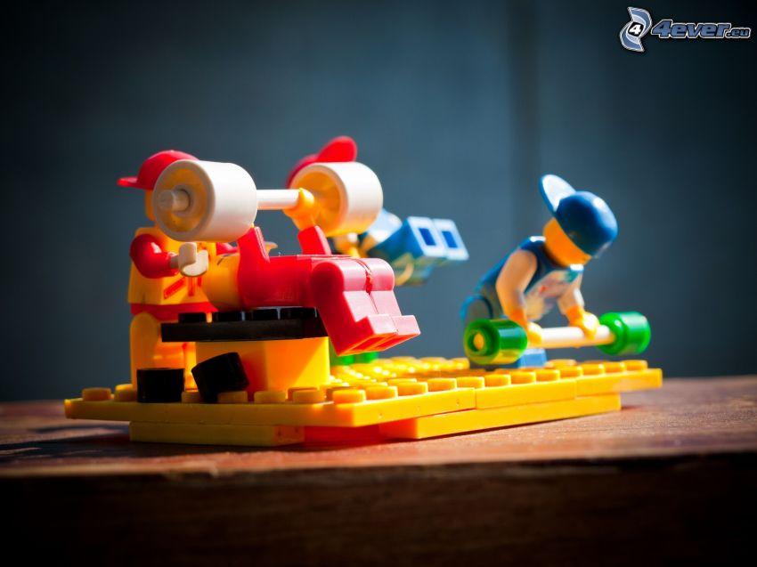 caracteres, Lego, musculación