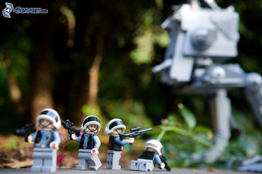 caracteres, soldados, Lego