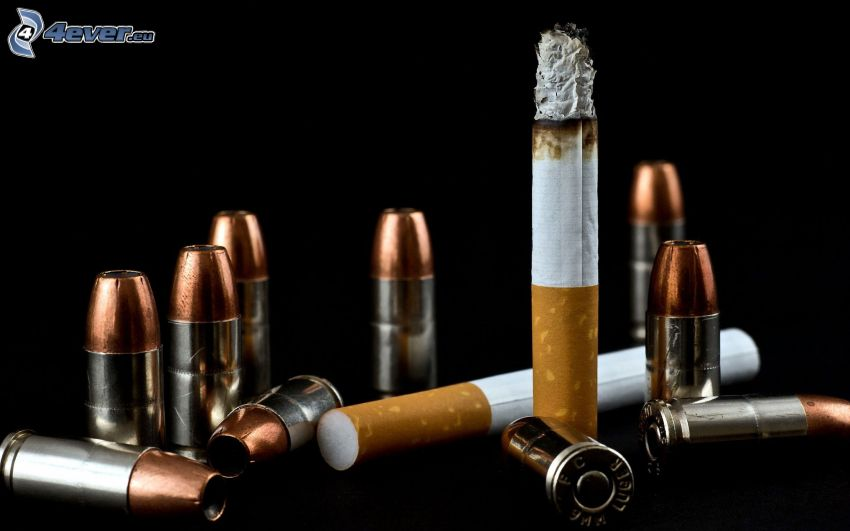 cigarrillos, proyectil