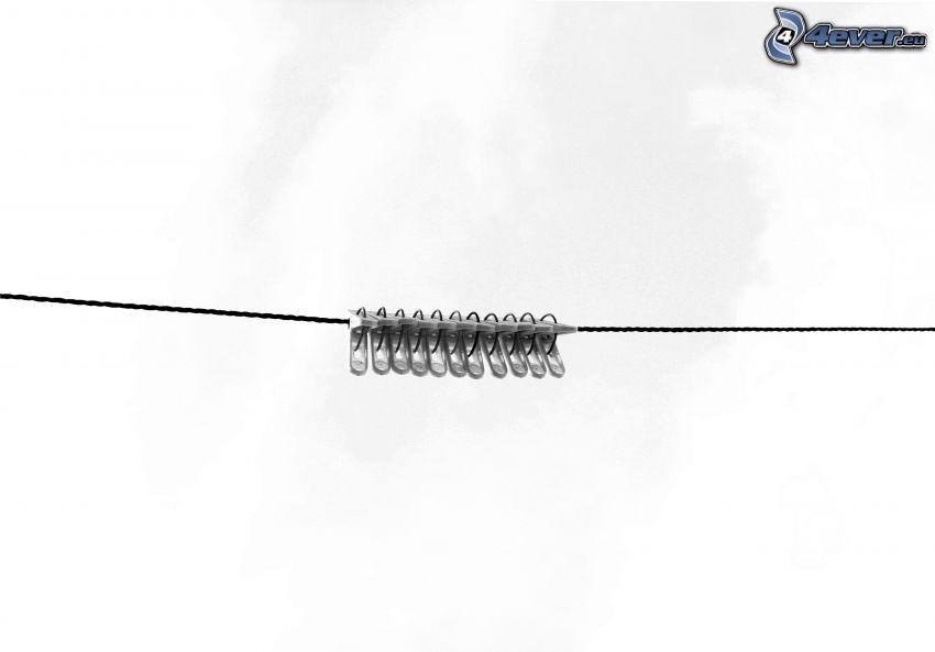 clavijas en una cuerda