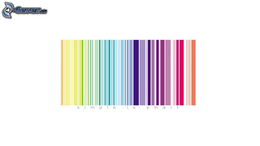 código de barras, colores