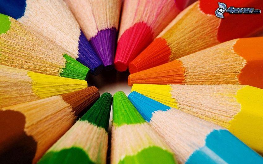 colores, lápices de colores