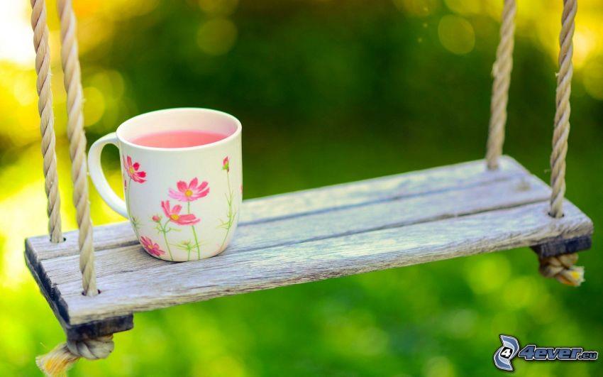 columpio, taza de té