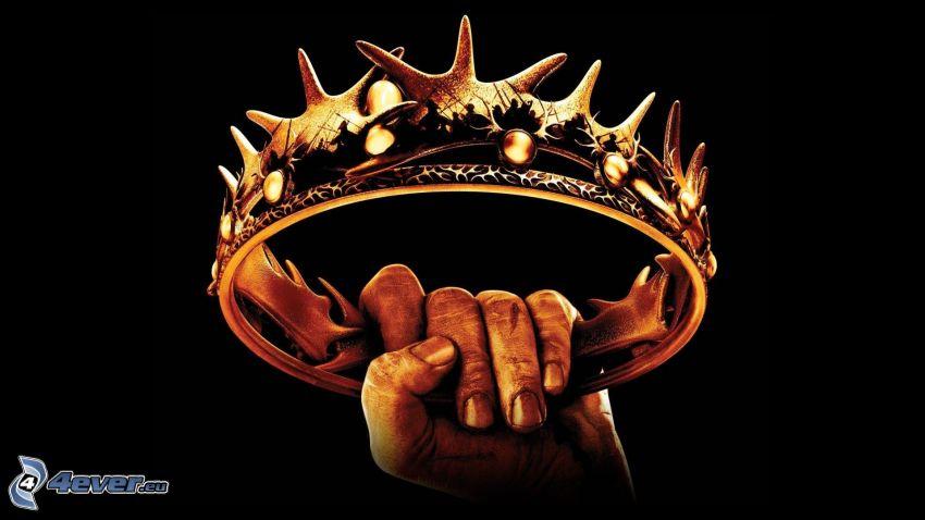 corona, mano