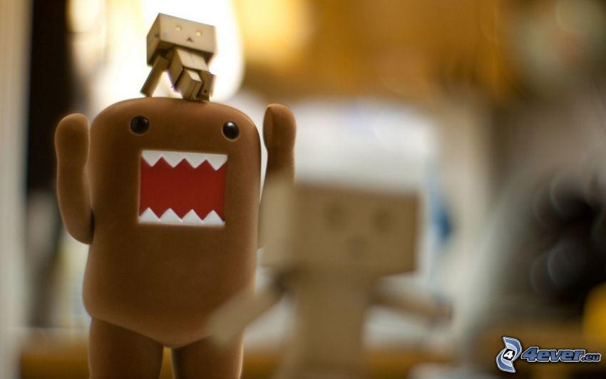 Danbo & Domo, caracteres, robot de papel