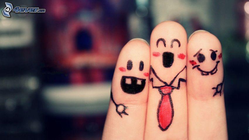 dedos, smileys