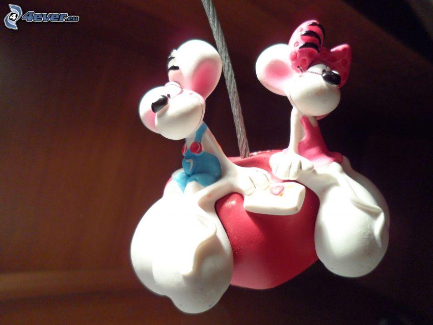 Diddl y Diddlina, ratones