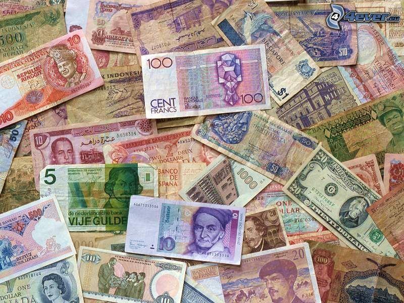 dinero, billetes