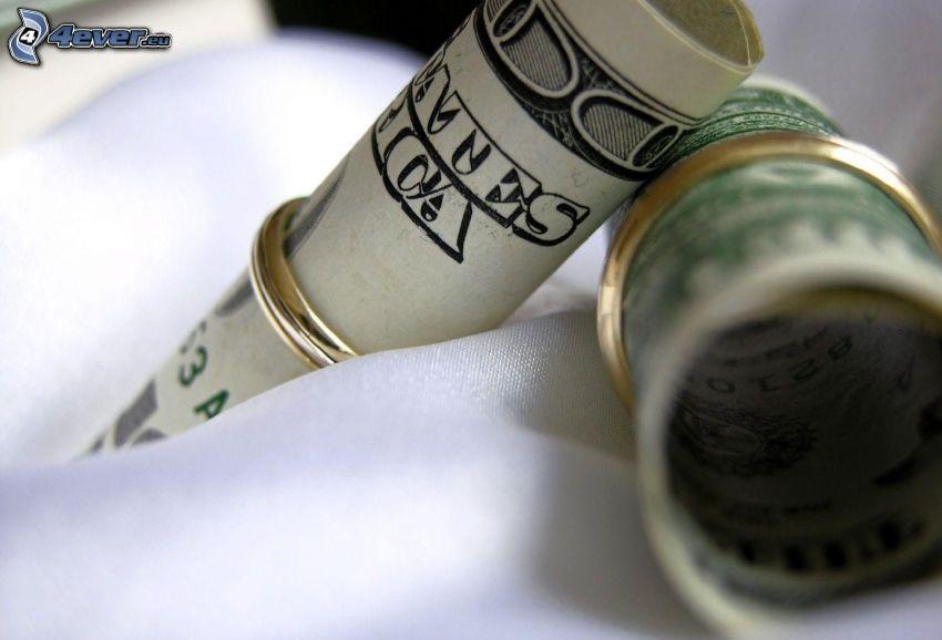 dólares, billetes