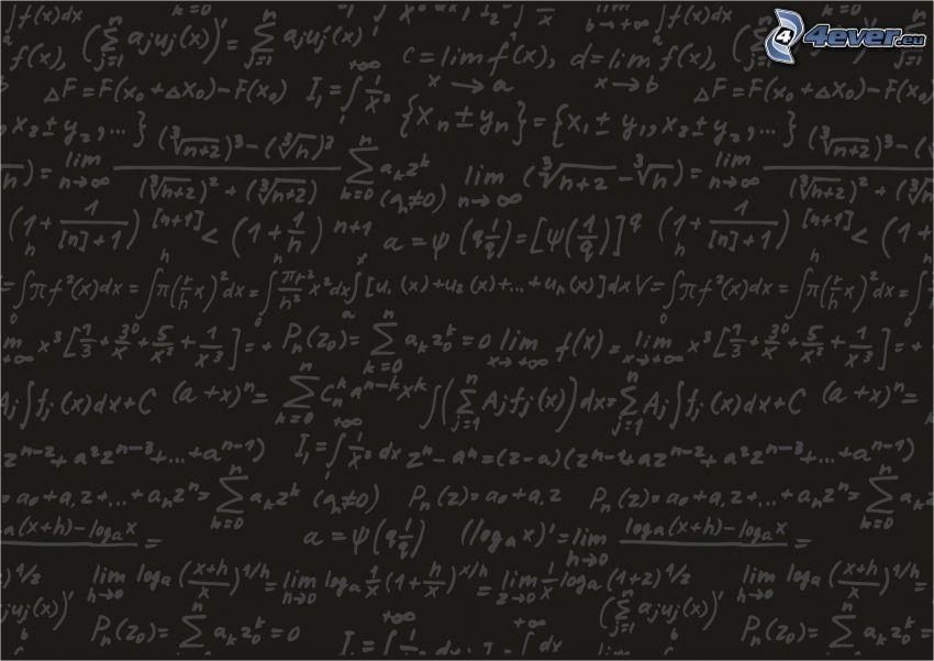 ecuación matemática, pizarrón
