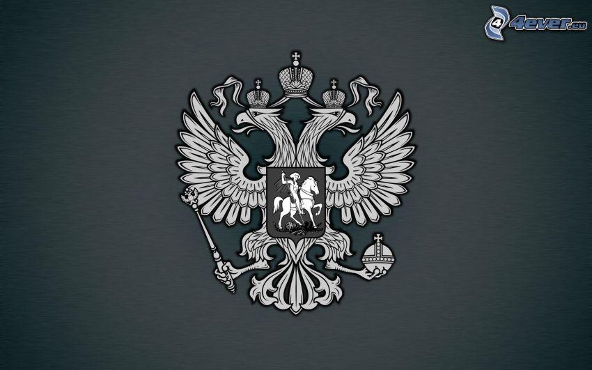 escudo de armas, blanco y negro