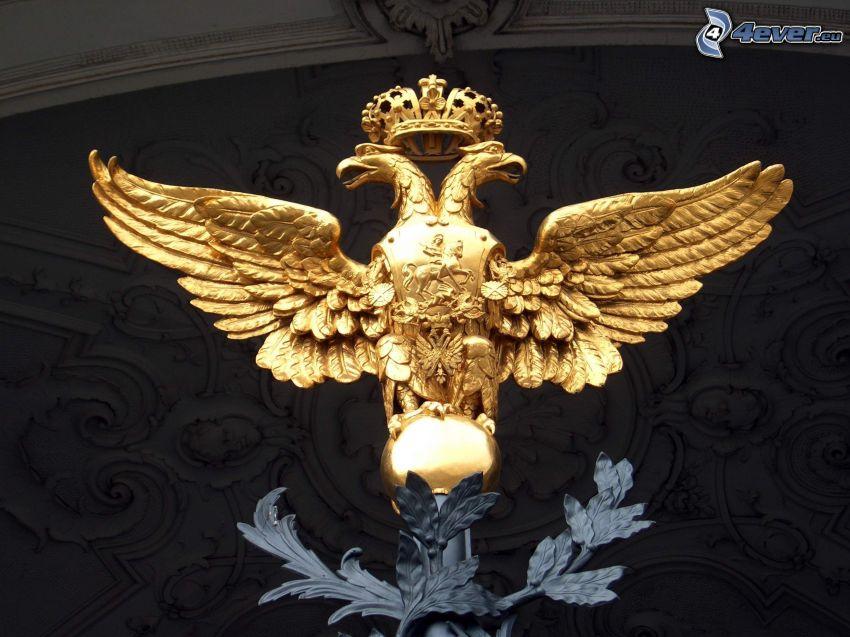 estatua, águila