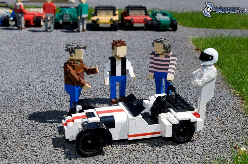 figurines, Lego, coche