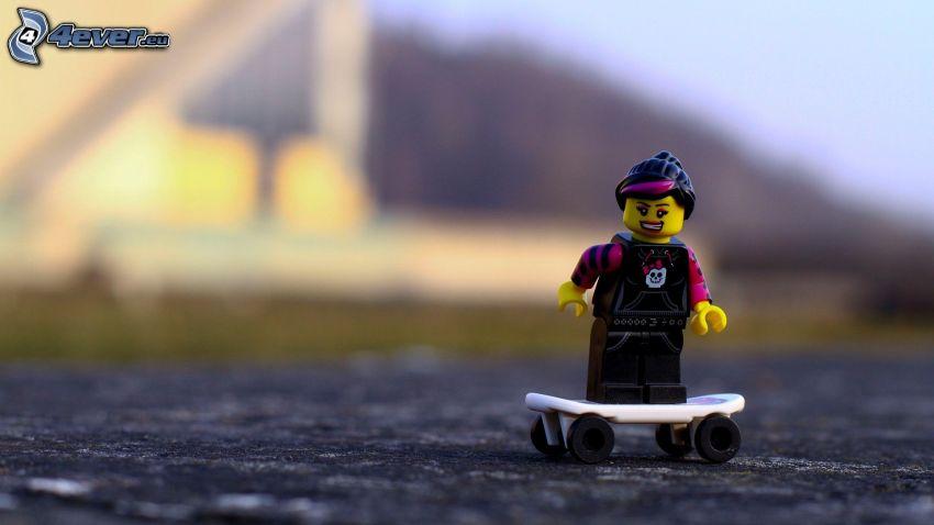 figurita, Lego, skate