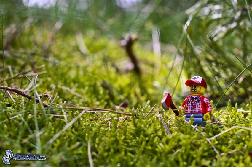 figurita, Lego, verde, musgo