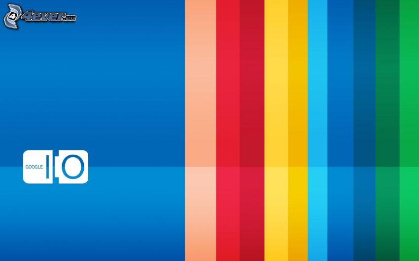 Google, tiras de colores