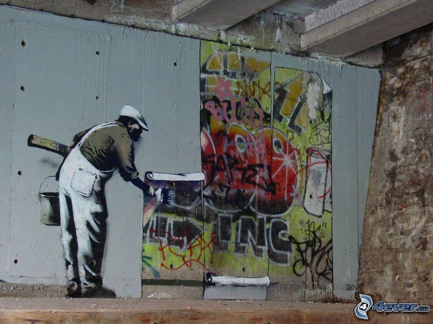 grafiti, pared