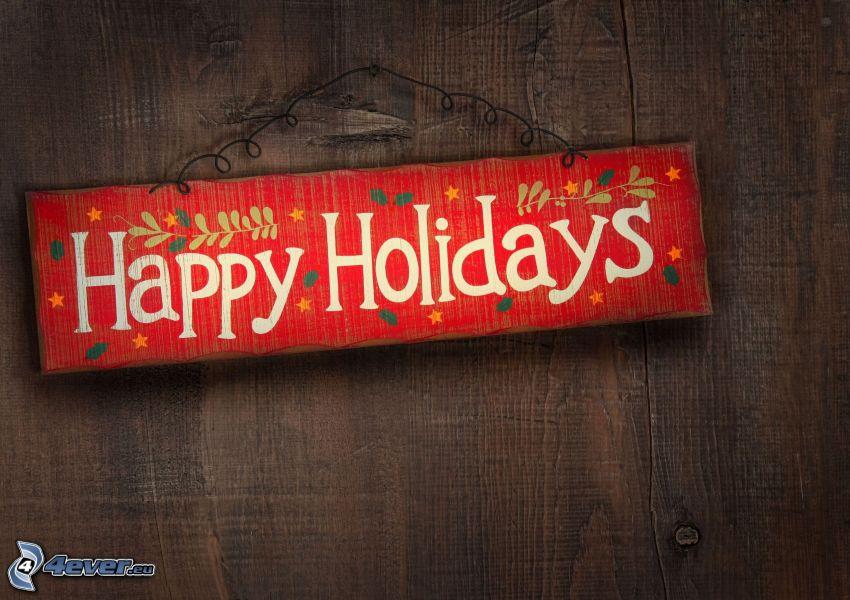 Happy Holidays, letrero