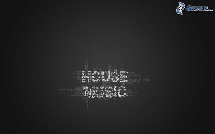 House music, fondo negro