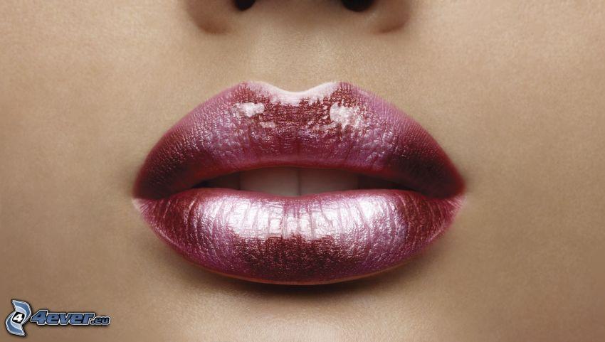 labios pintados, labios