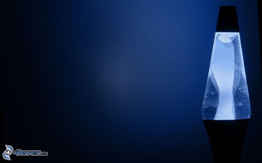 lámpara, azul