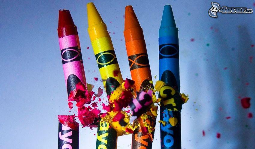 lápices de color, bala, cargo