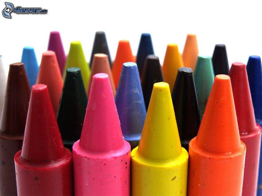 lápices de color, colores