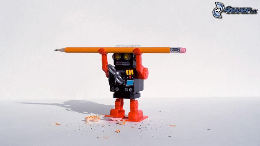 lápiz, robot