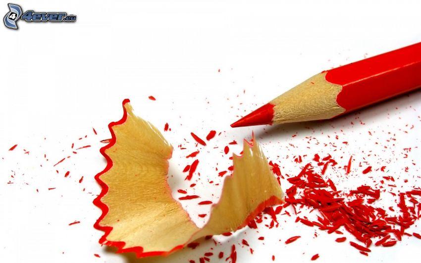 lápiz, rojo