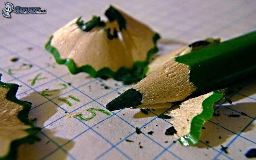 lápiz, verde