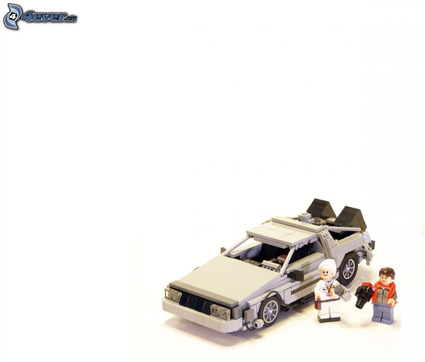 Lego, coche, caracteres