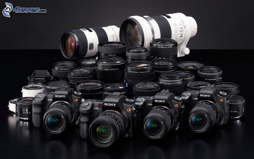 lentes, cámara