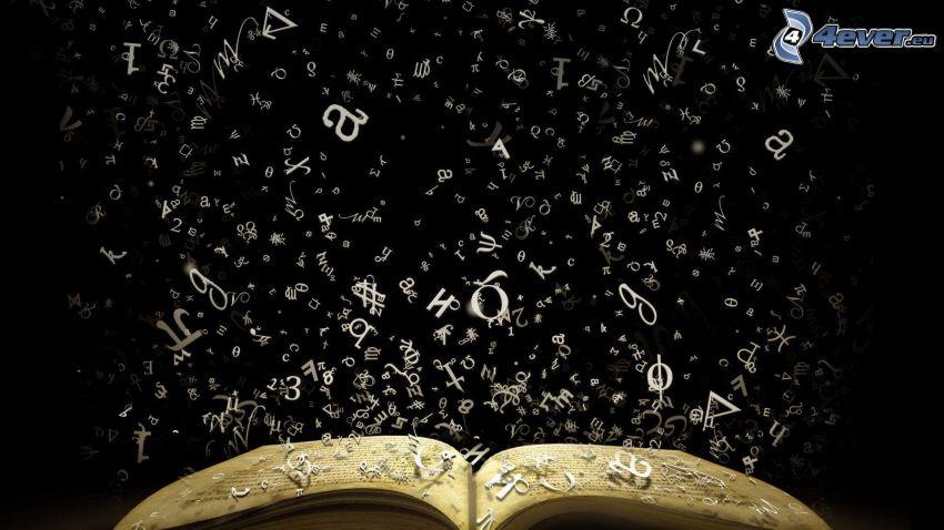 libro, letras