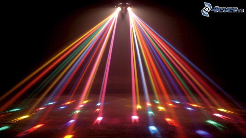 luces de colores, discoteca