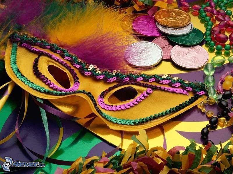 moneda, máscara